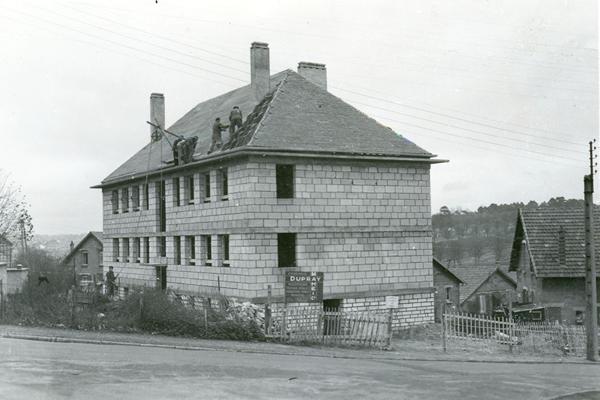 Photo d'archive - Premières constructions Alcéane