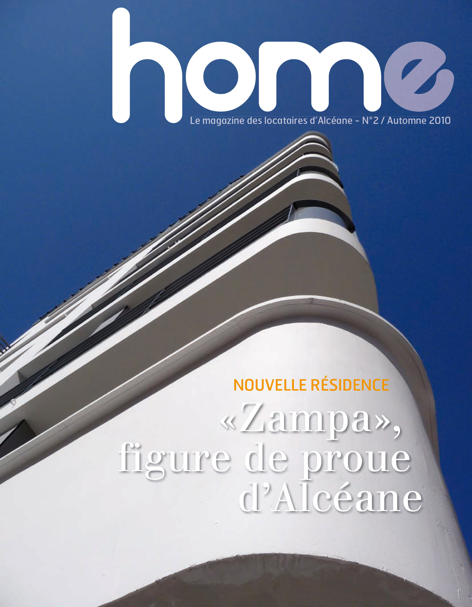 Page de couverture du magazine Home 2