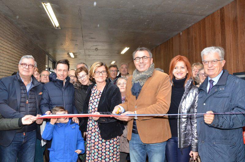 Inauguration de la résidence Les Hallates par Luc Lemonnier, Maire du Havre, en présence d'Agnès Firmin Le Bodo, Députée de Seine-Maritime, des adjoints au Maire du Havre et des administrateurs d'Alcéane.