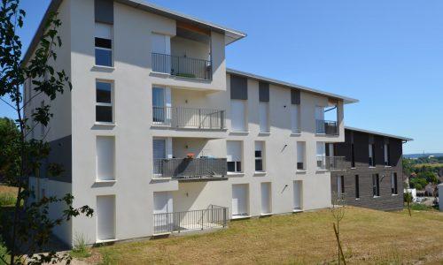 Photo d'un de deux immeubles de la résidence des Calètes B